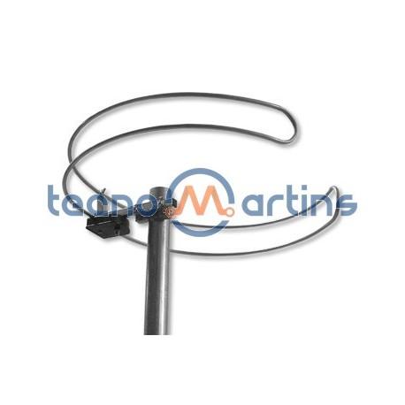 Antena FM Dipolo Circular com ficha F