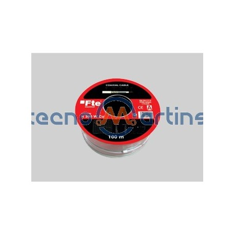 Cabo coaxial RG6 Ø6.8mm iTED - FTEmaximal K290W - Rolo 100m