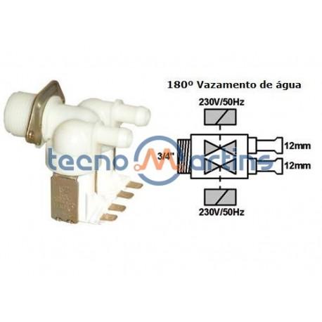 Electrovalvula entrada C/ 2 SAIDAS 180º 2X12MM