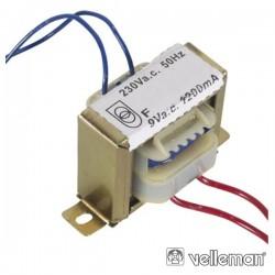 Transformador 10.8Va 1X9V Velleman