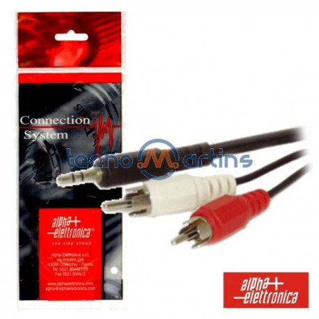 Cabo Jack 3.5mm Macho St / 2-Rca Macho 1.5M Polybag