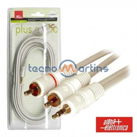 Cabo Silver Plus Jack 3.5mm Macho St / 2Rca Macho 3M Blister