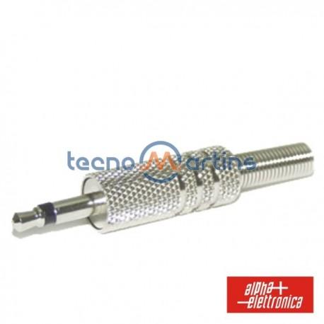 Ficha Jack 3.5mm Macho c/ Protecção Mola Mn