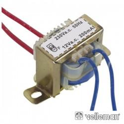 Transformador 2.4Va 1X12V Velleman
