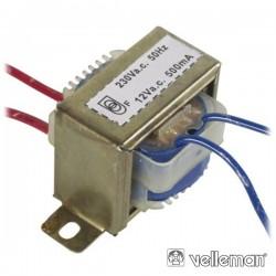 Transformador 6Va 1X12V Velleman