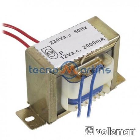 Transformador 24Va 1X12V Velleman