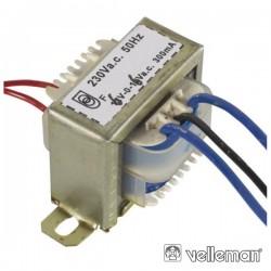 Transformador 3.6Va 2X6V Velleman