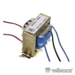 Transformador 7.2Va 2X12V Velleman