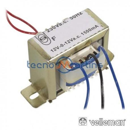 Transformador 36Va 2X12V Velleman