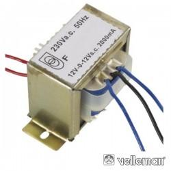 Transformador 48Va 2X12V Velleman