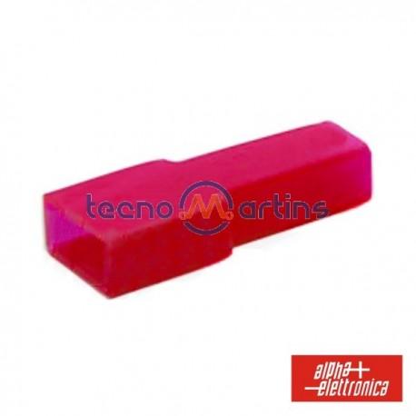 Cobertura p/ Terminais Faston 6.35mm Vermelho