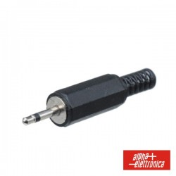 Ficha Jack 2.5mm Macho Mn Pvc c/ Guarda Cabo