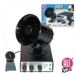 Sirene 12V 5 Alarmes c/ Microfone 125Db Allride