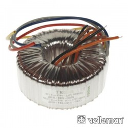 Transformador Toroidal 300Va 2X12V / 2X12.50A Velleman