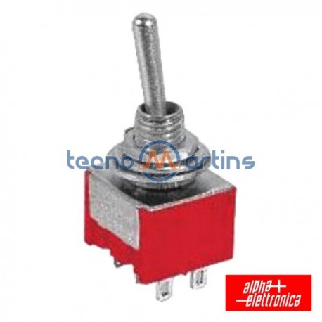 Interruptor Alavanca Miniatura (On)-Off-On Painel