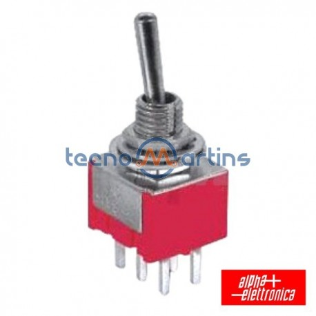 Interruptor Alavanca Miniatura (On)-Off-(On) Ci