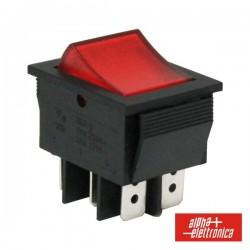 Comutador Miniatura 15A-250V Dpdt On-On
