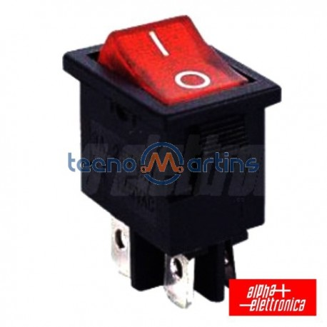 Interruptor de Potência Miniatura 6A-250V Spst On-Off