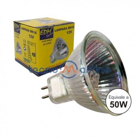 Lâmpada G5.3 50W 12V Halogéneo Mr16 Branco Quente