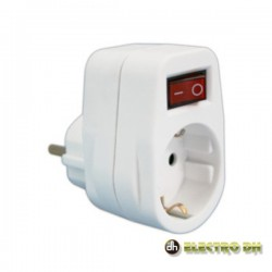 Tomada Eléctrica c/ 1 Saída Interruptor Branco Edh