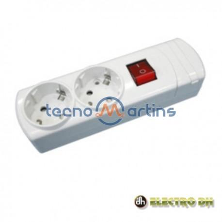 Base Eléctrica Dupla Schuko c/Interruptor Edh