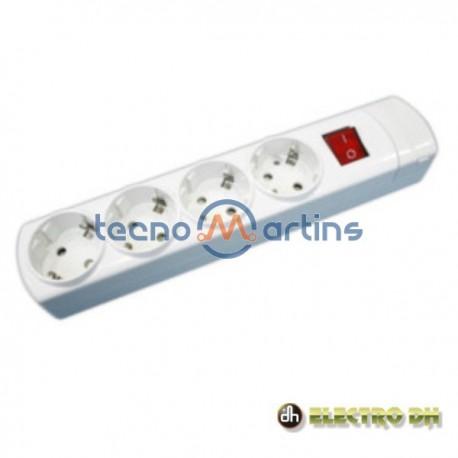 Base Eléctrica Quadrupla Schuko c/Interruptor Edh