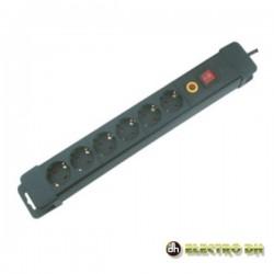 Tomada Eléctrica c/ 6 Saídas Interruptor 1.5M Edh
