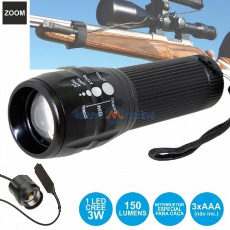 Lanterna Alumínio c/ Led 3W E Zoom