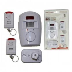 Sensor de Presença c/ Alarme e Telecomando