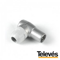 Ficha Coaxial Macho 9.5mm Angular Televés