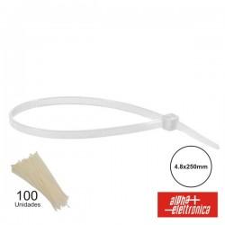Braçadeira Plástica 4.8X250 Polybag (100X)