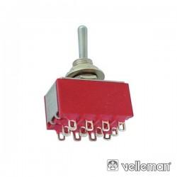 Interruptor Alavanca 4Pdt On-Off-On - Tipo Ci