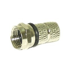 Ficha F Macho p/ Cabo 3.8mm Com 1 O-Ring