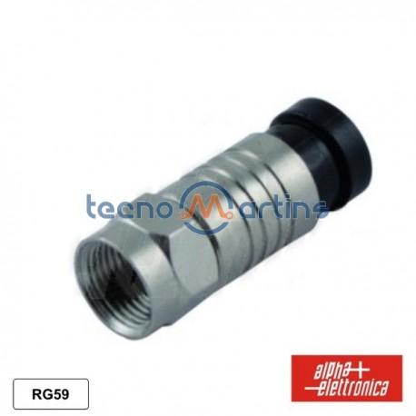 Ficha F Macho Compressão p/ Cabo 6.1mm Rg59