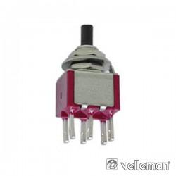 Interruptor Pulsador Contacto Momentâneo Vert. Dpdt On-(On)