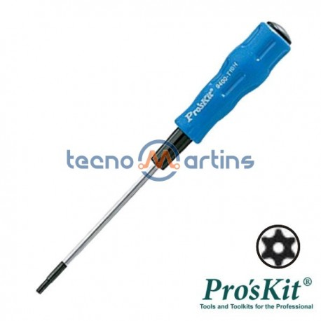 Chave Torx c/ Furo T10H 165mm Pro'sKit