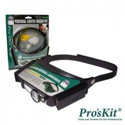 Lupa de Cabeça c/ Iluminação a Lâmpada Pro'sKit