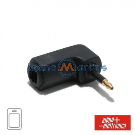 Ficha Adaptadora Toslink-Mini Plug 90º Blister