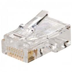Ficha Telef.-Rede Rj45 Modular 8P8C
