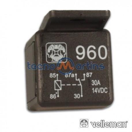 Relé 12Vdc Inversor Unipolar 30A/12V