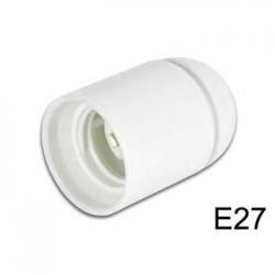 Suporte p/ Lâmpada E27 250V/4A Branco