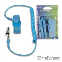 Pulseira Anti-Estática Azul 20X210mm Velleman