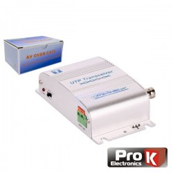 Conversor Activo Balun Vídeo Áudio c/ Dc Cat5 Prok