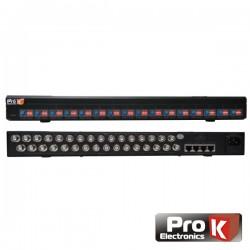 Receptor Amplificado 16 Canais Vídeo Balun Cat5 Prok