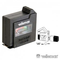 Testador de Baterias e Pilhas AAA/AA/C/D/9V - Velleman