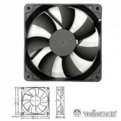 Ventoínha 12V 120X120X25mm Velleman