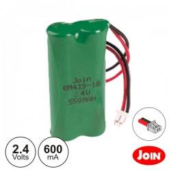 Bateria Ni-Mh 2.4V 600Ma Ficha Philips Join