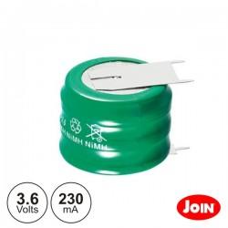 Bateria Ni-Mh 3.6V 230Ma c/ Patilhas Join