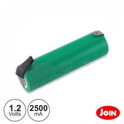 Bateria Ni-Mh AA 1.2V 2500Ma c/ Patilhas