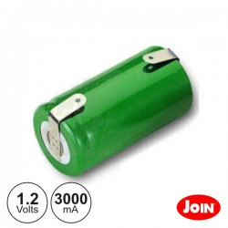 Bateria Ni-Mh Sc 1.2V 3000Ma c/ Patilhas Join